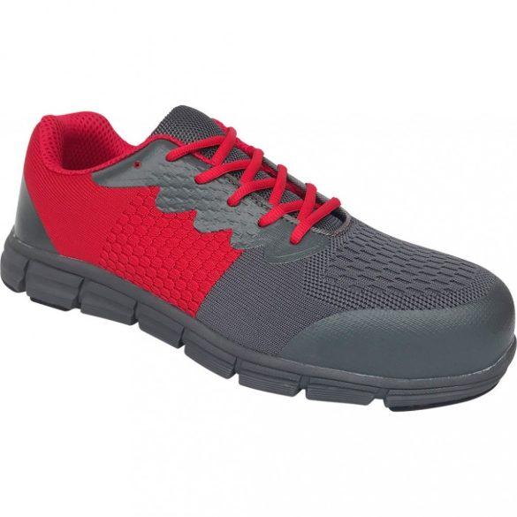 Fly-Knit S1P piros-szürke munkavédelmi cipő